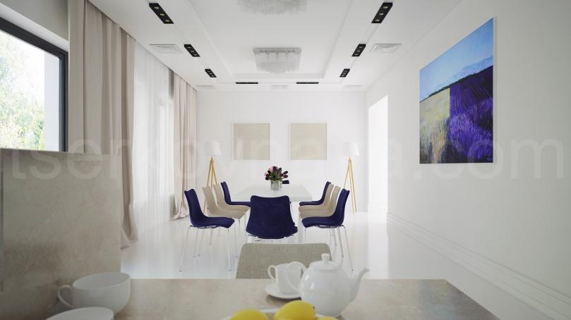 Столовая и кухня (минимализм)