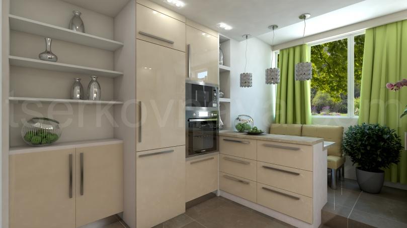 Кухня+лоджия