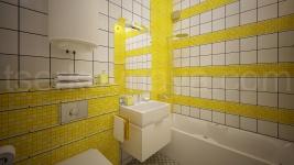 Интерьер мансарды в стиле Лофт (Желтая часть)