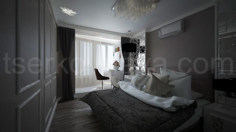 Тепло и уют в центре города (спальня)
